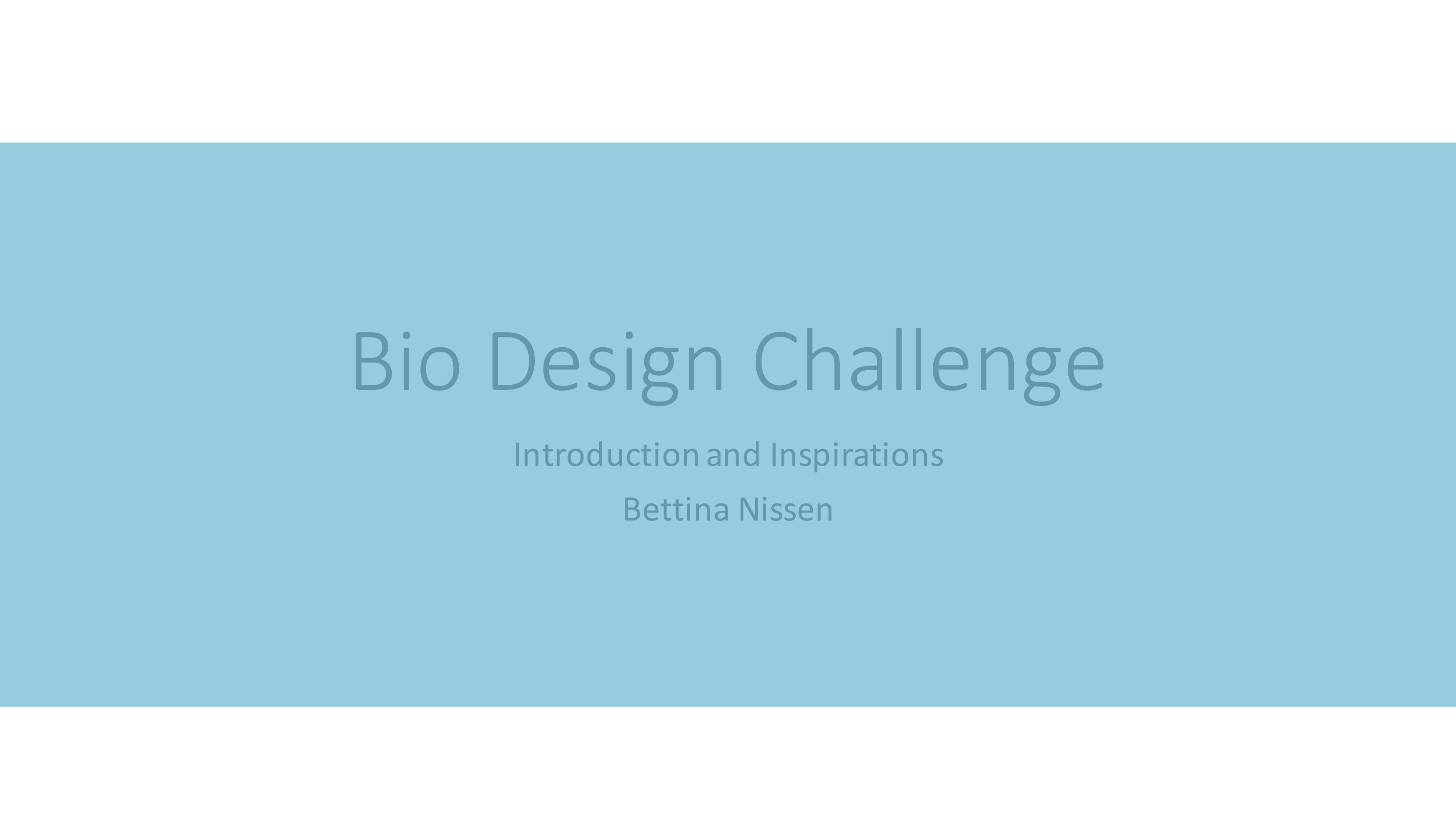 Bettina's presentation